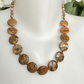 Coin jasper necklace,Jasper necklace,Autumn necklace, Statement necklace,
