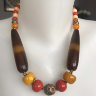 Statement necklace, Chunky beads necklace, Beaded necklace,Ethnic jewellery