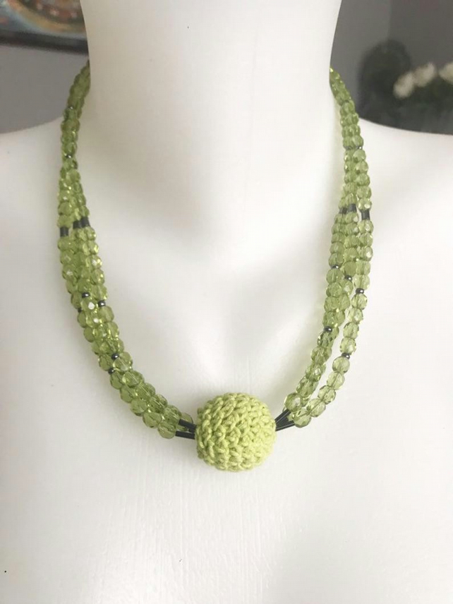Statement necklace, Chunky beads necklace, Beaded necklace, Sparkly necklace