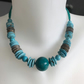 Turquoise Necklace ,Beaded necklace,Statement necklace,Chunky turquoise necklace