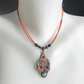 Pendant necklace, Beaded necklace, Vintage pendant necklace, Ethnic jewellery