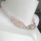 Rose quartz necklace, Gemstone necklace, Beaded gemstone necklace, Dragon vein