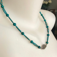 Turquoise Necklace,  Tibetan necklace, Ethnic necklace, Beaded necklace