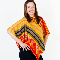 Poncho, Accessories, Knit wear, Autumn Poncho, 230