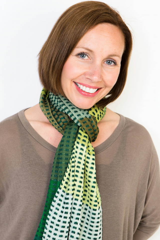 Green Scarf, Bespoke Scarf, Autumn Scarf, Hand Crafted, 150