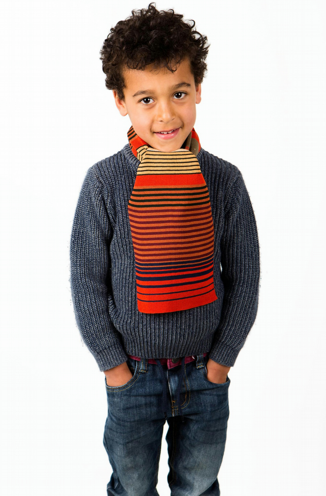 Boys Scarf, Autumnal Scarf, Personalised Scarf,  Striped Scarf 216