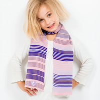 Pink Scarf, Purple Scarf, Personalised Scarf, Hearts Scarf, 270
