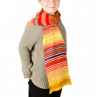 Boys Scarf, Personalised Scarf, Striped Scarf 232