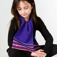 Ladybird Scarf, Personalised Scarf, Striped Scarf, Purple Scarf, 286