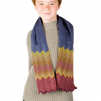 Boys Scarf, Personalised Scarf, Boys Scarf,  Chevron Scarf, 246