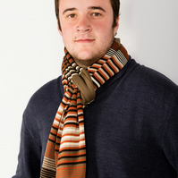 Men's Scarf,  Brown Scarf, Winter Scarf, 234