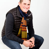Men's Striped Scarf 229