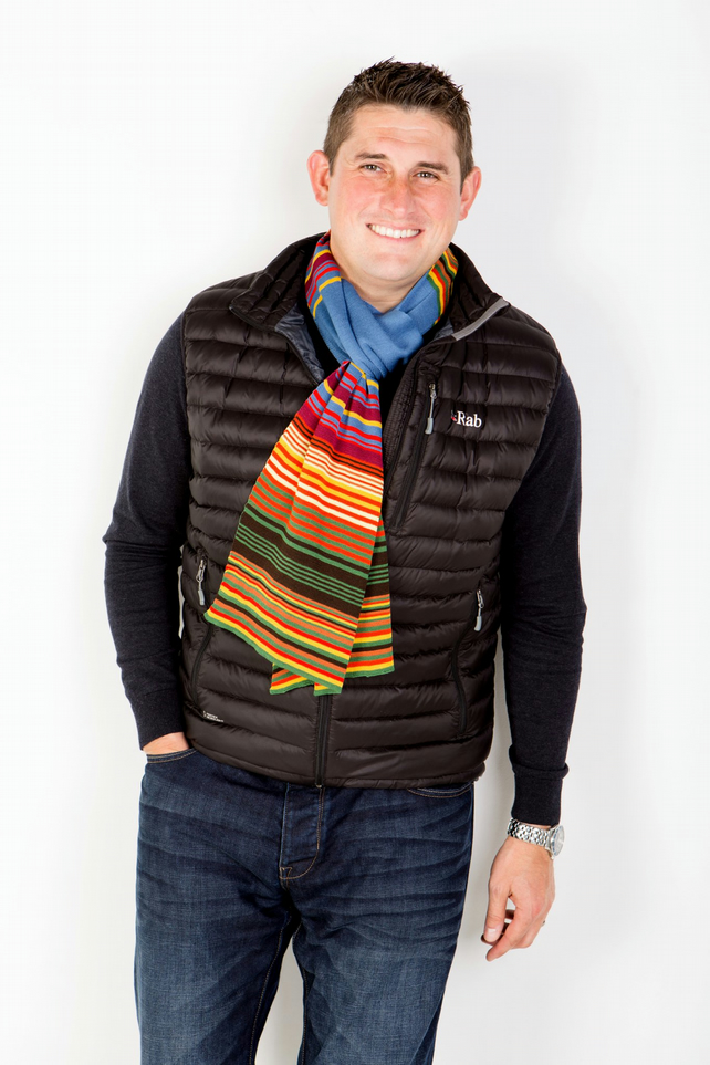 Men's Colorful Striped Scarf 200