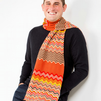 Men's Scarf, Chevron Scarf, Father's Day  Scarf 227