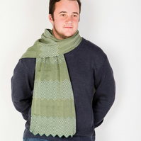 Father's Day , Green Scarf, Chevron Scarf, Man Gift, 104