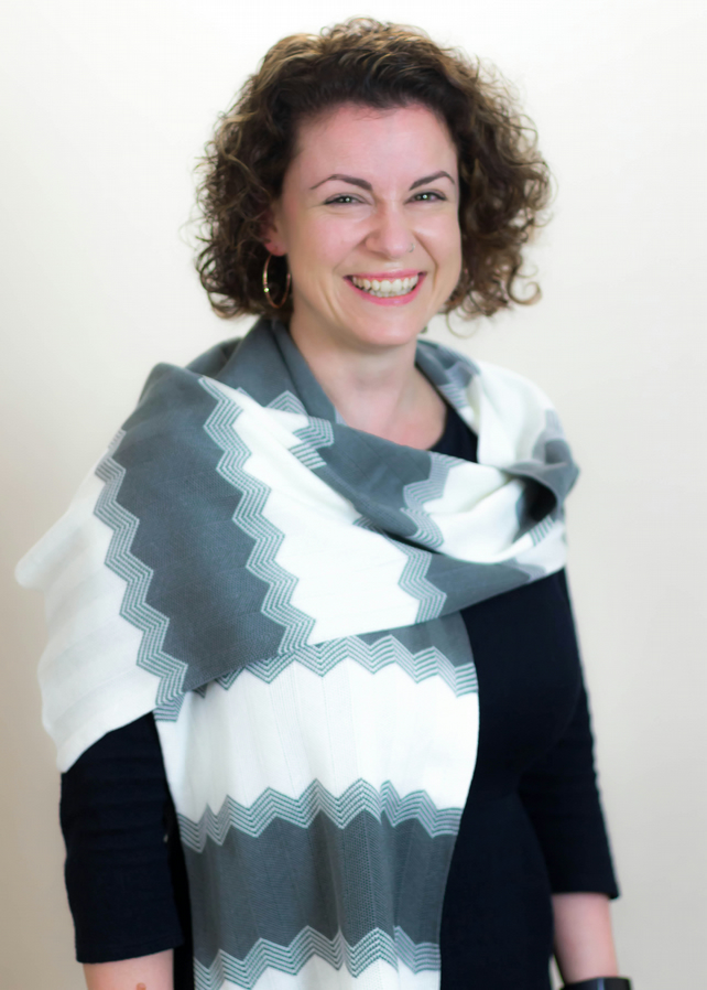 Slate and White, Casual, Chevron, Scarf 110