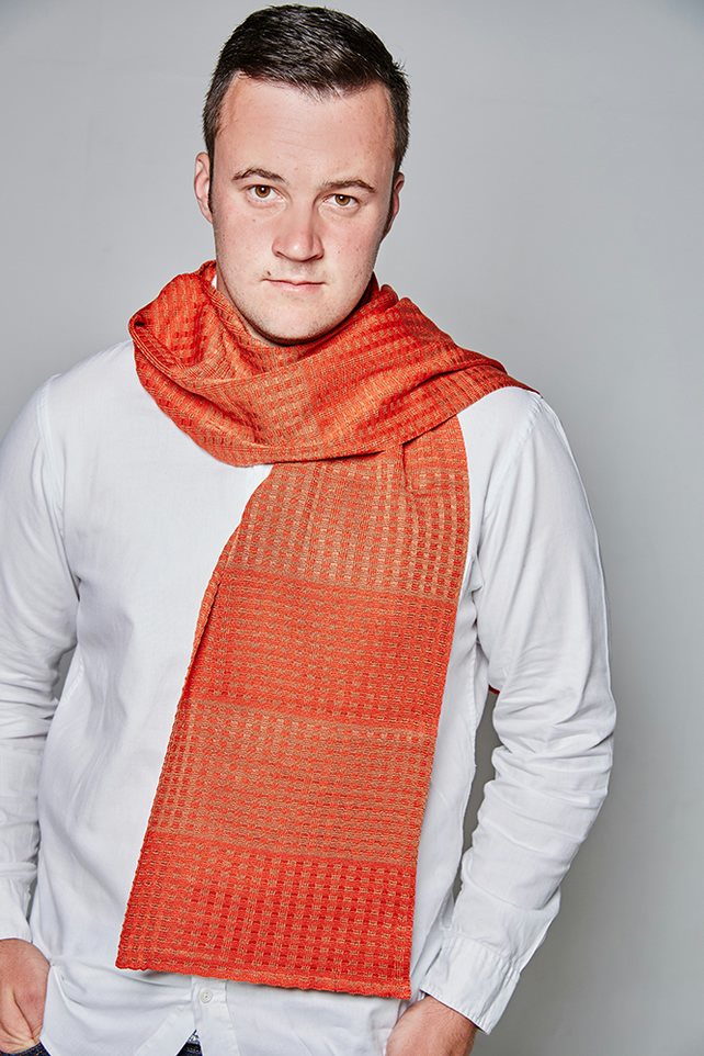 Men's Scarf, Copper Scarf, Scarlet Scarf, Men's Accessories, Men's Fashion, 80