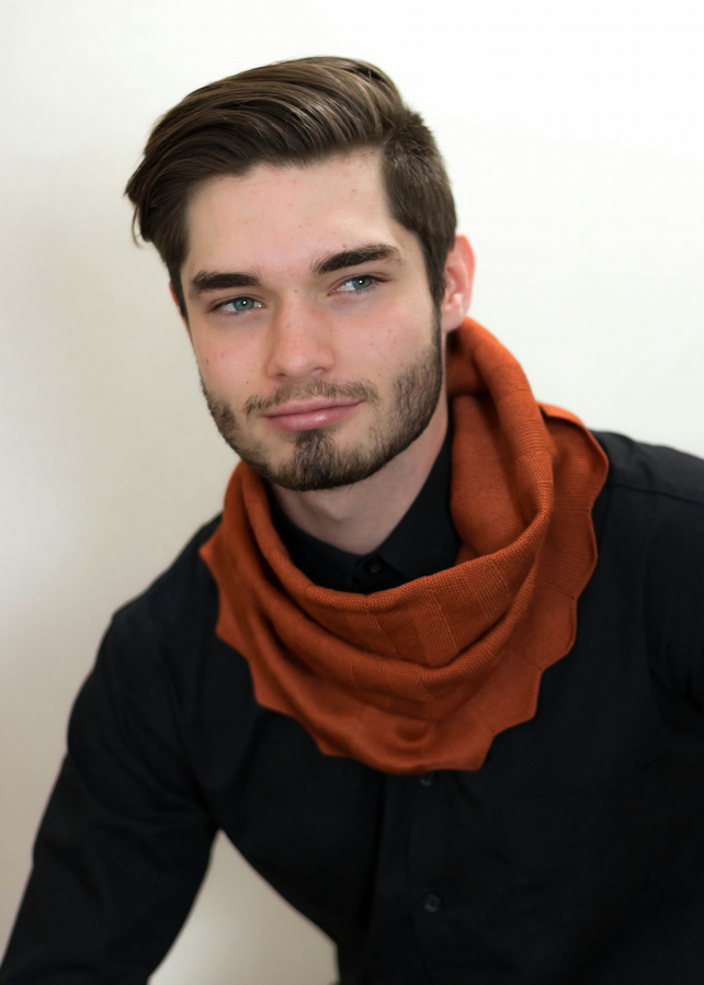 Tan Cowl, Men's Fashion, Copper Snood, Men's Accessories, 48