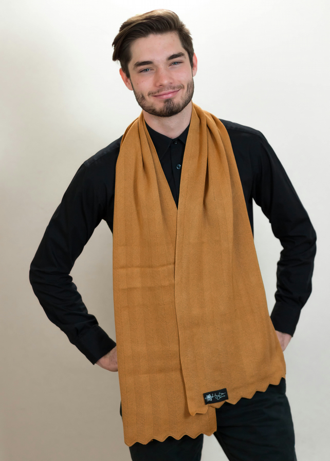 Terracotta Scarf, Men's Scarf, Neck Warmer, Autumn Scarf, Scarves, 44
