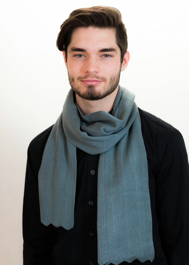 Slate Scarf, Grey Scarf, Scarves, Winter Scarf, Men's Scarf, Neck Warmer, 3