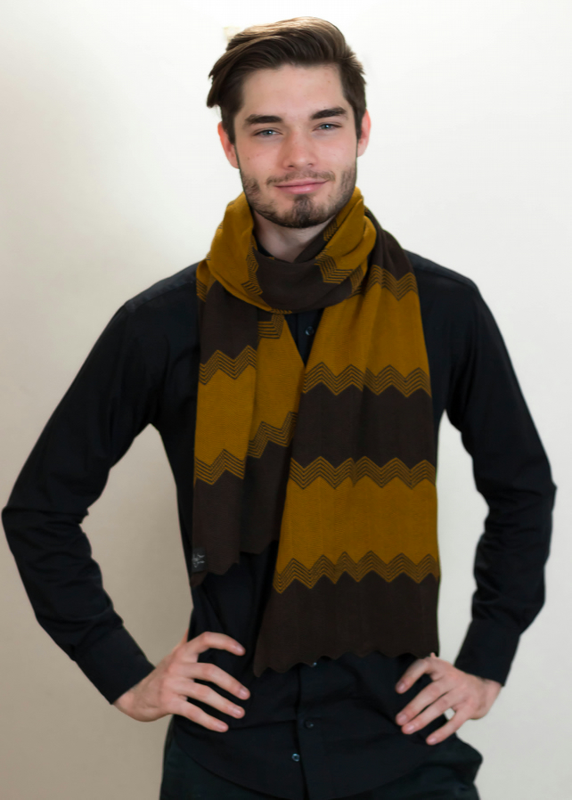 Men's Scarf, Men's Wear, Men's Fashion, Men's Accessories, Scarf, Chevron, 110