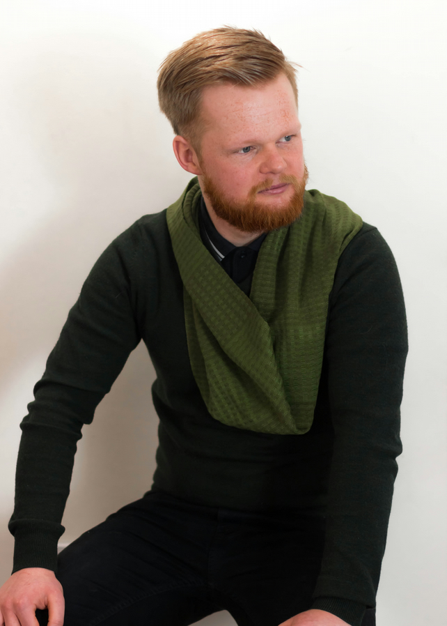 Men's Infinity Scarf, Infinity Scarf, Green Scarf, Men's Wear, Men's Fashion,376