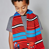 Spiderman Scarf, Christmas Gift, Unisex Scarf, Boys Scarf, Striped Scarf,244