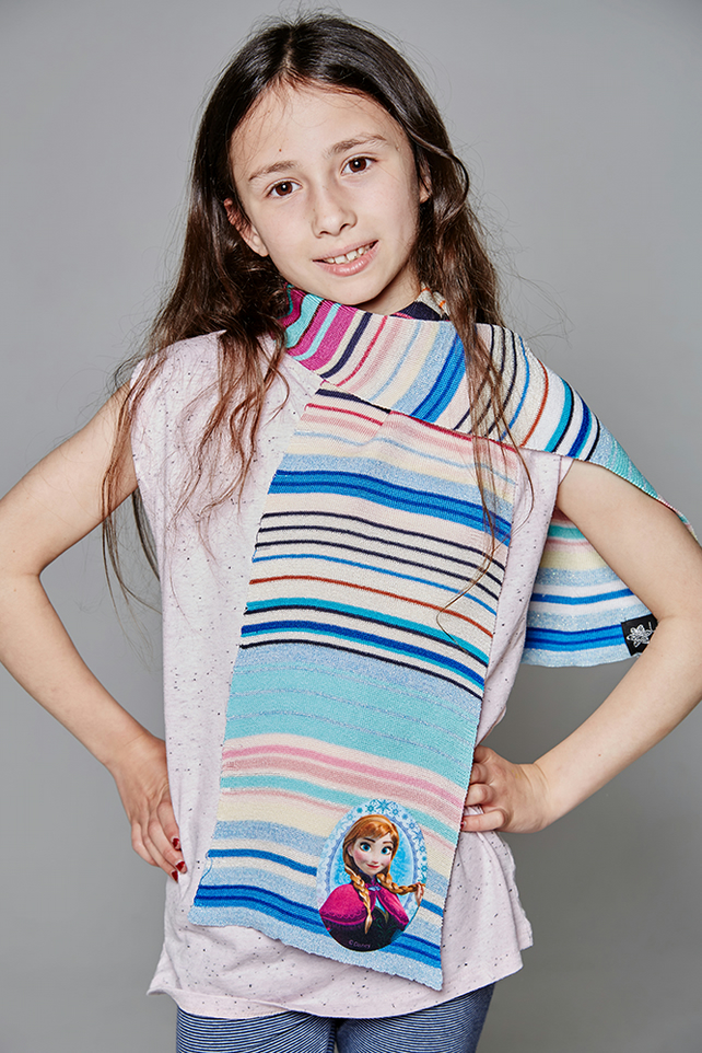 Frozen Scarf, Elsa Scarf, Christmas, Girls Scarf, Striped Scarf, Birthday, 259