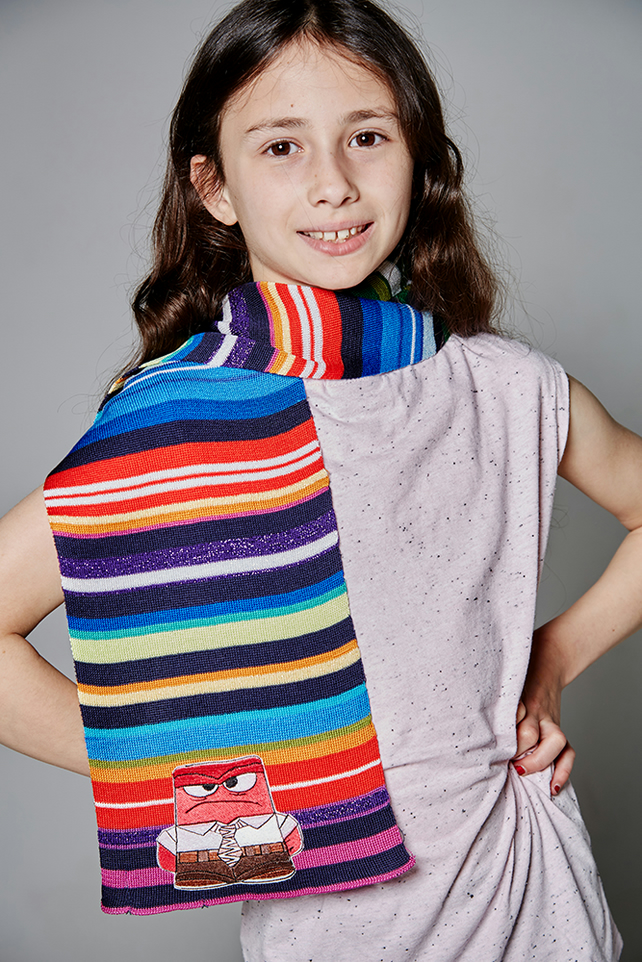 Inside Out Scarf, Personalised Scarf, Girls Scarf, Boys Scarf, Striped Scarf,235