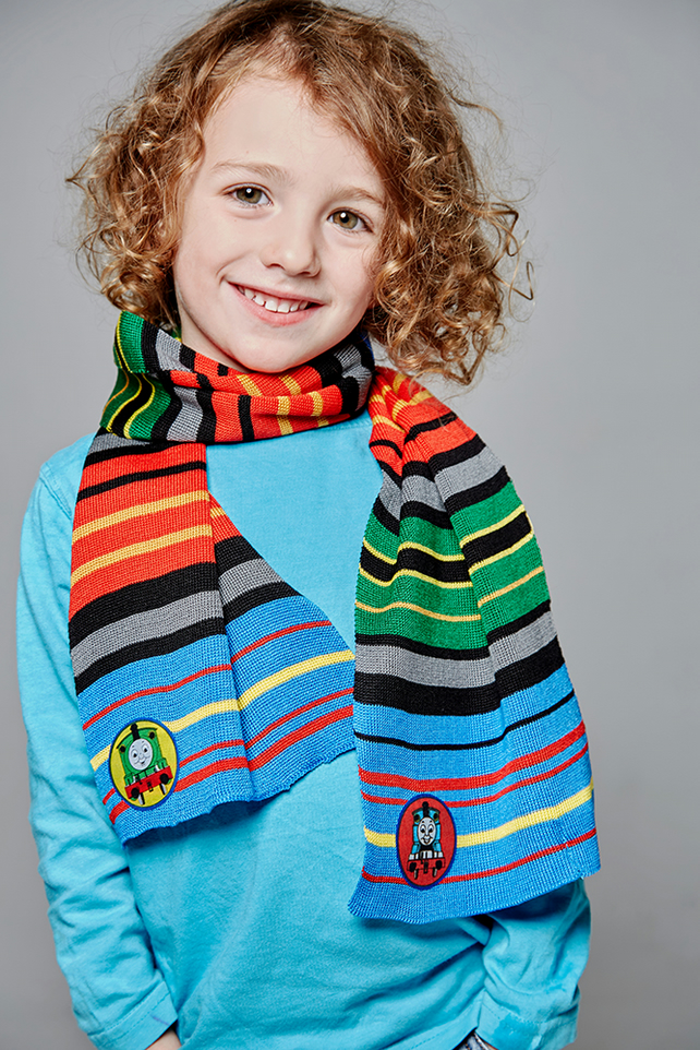 Thomas the Tank Engine Scarf, Personalised Scarf, Scarf, Boys Scarf, Striped,250