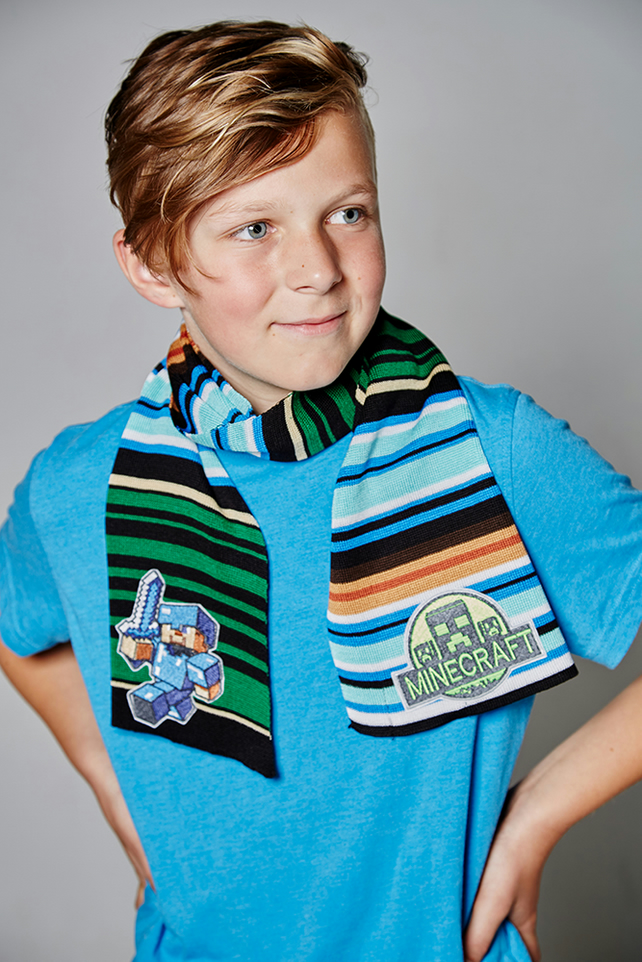 Minecraft Scarf, Personalised Scarf, Boys Scarf, Men's Scarf, Striped Scarf,241