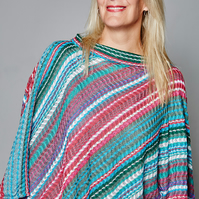 Colourful Poncho, Lace Poncho, Unique Poncho, Ladies Accessories, 165
