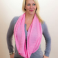 Pink Scarf, Infinity Scarf, Lace Scarf, Designer Scarf, Summer Scarf,