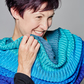 Cowl, Accessories, Lace, Turquoise Snood, Christmas Gift, Oversized Cowl, 228