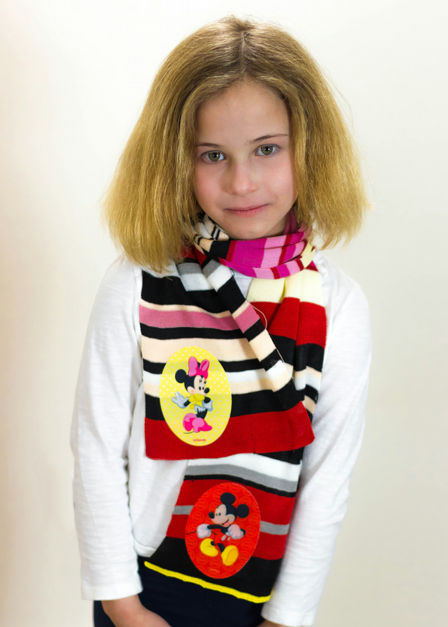 Mickey Mouse, Mickey Mouse Scarf, Minnie Mouse, Minnie Mouse Scarf, Girls, 370