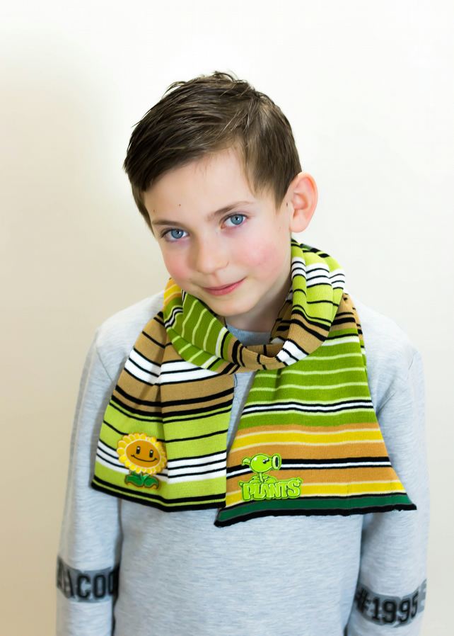 Plants v Zombies Scarf,  Scarf, Boys Scarf, Green Scarf, Winter, 350