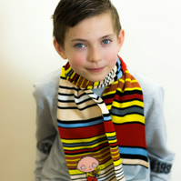 Family Guy Scarf, Customised Scarf, Boys Scarf, Kids Scarf, School Scarf, 353