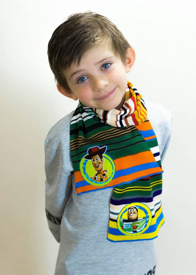 Toy Story Scarf, Woody Scarf, Buzz Lightyear, Boys Scarf, School Scarf, Boys,354