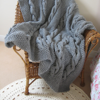 Throws - Handmade in UK Big Knit Cable Throws