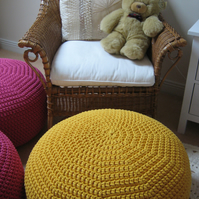 Pouf, Pouffe, Footstool - British Handmade from Bobbiny Rope