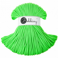 Bobbiny Rope Yarn - 5mm x 100m - Fluo Green