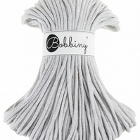Bobbiny Rope Yarn - 5mm x 100m - Light Grey