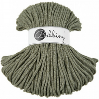 Bobbiny Rope Yarn - 5mm x 100m - Olive Green Melange