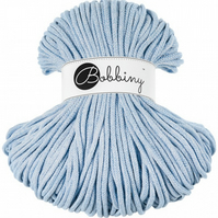Bobbiny Rope Yarn - 5mm x 100m - Baby Blue Melange