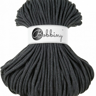 Bobbiny Rope Yarn - 5mm x 100m - Charcoal