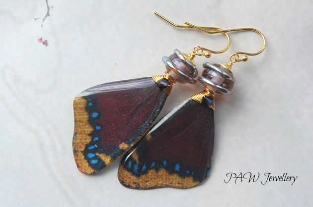 SALE Butterly Wing Earrings
