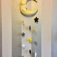 Smiling Moon and Stars mobile