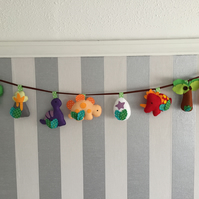 Dinosaur garland, nursery or playroom decor