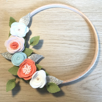Boho Flower Hoop Wreath