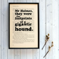 Sherlock Holmes Hound of the Baskervilles Quote on Vintage Book Page Framed